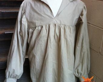 Taupe Peasant Shirt