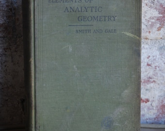 Antique Book, The Elements of Analytic Geometry