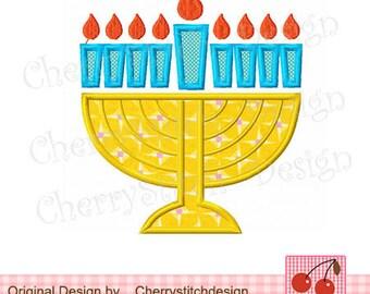 "Hanukkah Embroidery Appliqque -4x4 5x5 6x6""  Hanukkah 03"