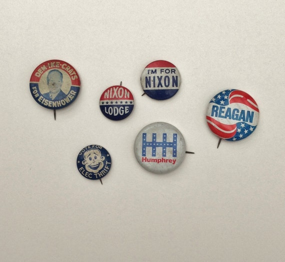 Rare Nixon Pins: Collectible Political Buttons Vintage Campaign Pins For