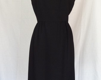 DRESS SALE!!! / 1950s Dress / Classic Little Black Dress / Jean Lang / Metal Zipper