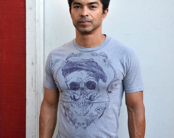 Artist Mens' T-shirt S-2XL Salvador Dali Skull with Paint Brush Vintage Handmade Graphic Art Silk-Screen Print Exclusive