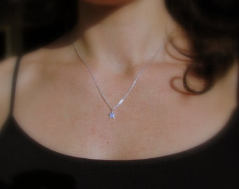 Sterling Silver, Dainty Star Necklace, Silver Star, Reach for the Stars, Shooting Star Necklace, Simple Tiny Star Jewelry