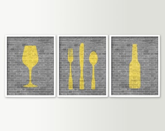 Modern Dining Room Art Kitchen Prints