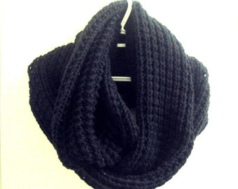 Oversized Scarf  Hand Knit Chunky Infinity Scarf  Extra Long Tube Scarf Infinity Cowl Neckwarmer Men Women Gift Ideas