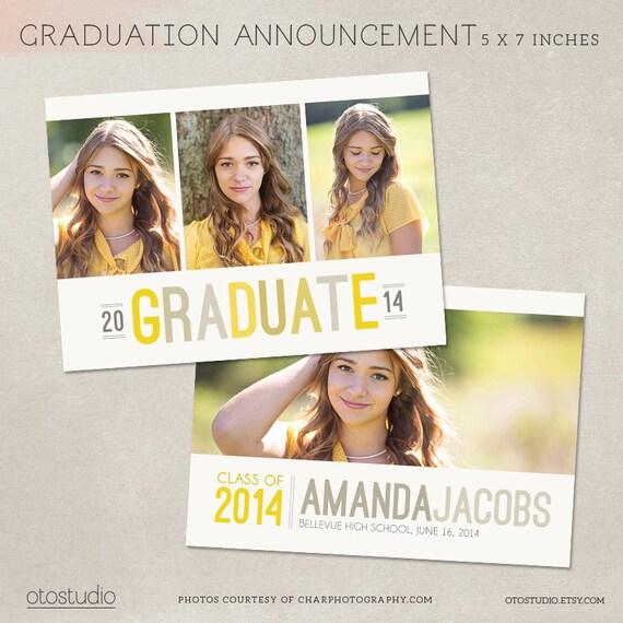 graduation announcement template photoshop photo card