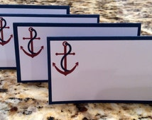 Nautical Place Cards - INSTANT DOWNLOAD
