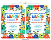 Little Monster Birthday Party Collection, Monster Party, Little Monster Party, Monsters Inc Party, Monster Invite