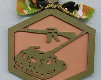 Military Tank Christmas Ornament