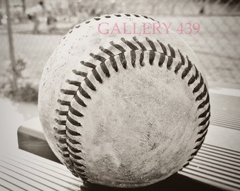 Vintage Baseball Portrait Boys Room Decor - Black White Photo - Coach Gift