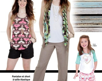 Jalie Pull-on Pants & Shorts Sewing Pattern #3243 in 29 Sizes Women and Girls