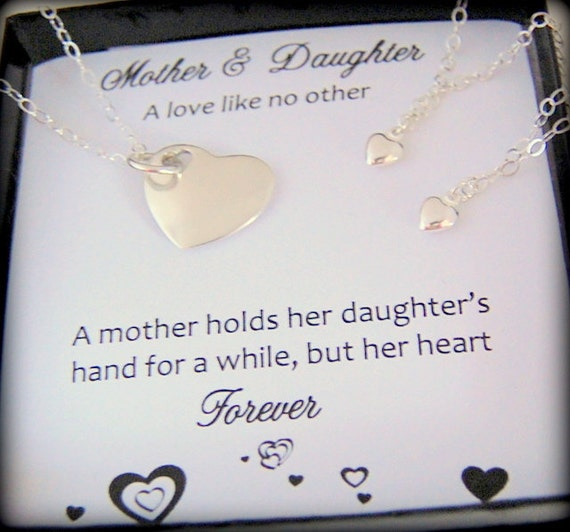 Items Similar To Mother And Two Daughters Necklace Mom