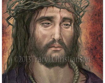 Ecce Homo, Face of Christ, Our Lord, Crown of Thorns Art Print #4014