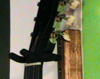 Acoustic Guitar Hanging Hook- Dark Walnut Stain