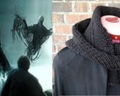 Dementor Inspired Unisex Knitted Cowl and Hood | Harry Potter - Ready To Ship