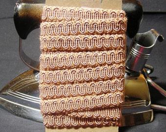 1960s Vintage Pink Braid Trim, BY the YARD, Very Pretty! 9/16 Inches Wide, Vintage Sewing Trim, Home Sewing Trim, Vintage Braid, Craft Trim