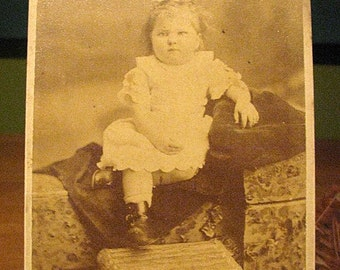 Vintage Photo of Chubby Toddler