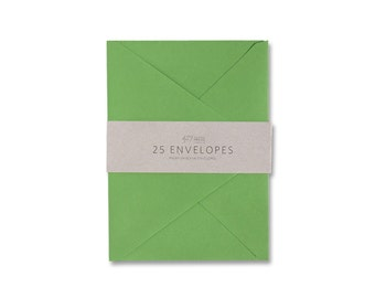 Envelopes - A6 Clover Green