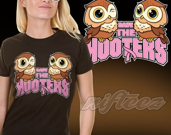 Save The Hooters SD1130 Breast Cancer Awareness Shirt Owls