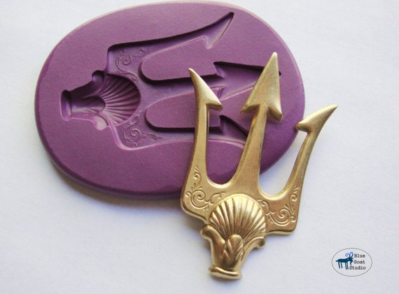 Poseidon Trident Mold/Mould Shell Spear Mold Silicone