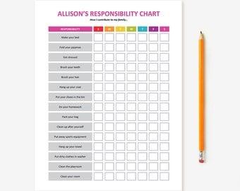 Printable Kid's Chore Chart
