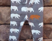 Organic baby bear leggings, organic baby leggings, organic toddler leggings, infant leggings