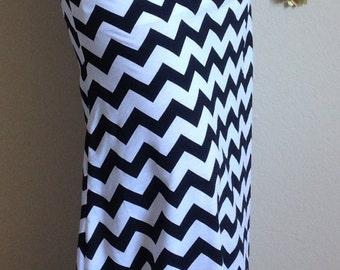 Black and white Chevron maxi skirt, summer skirt, chevron maxi skirt, skirt, maternity skirt, long skirt