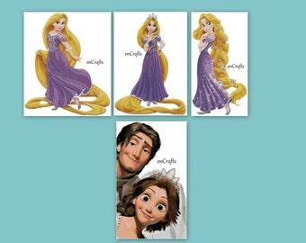 Rapunzel cross stitch 4 patterns