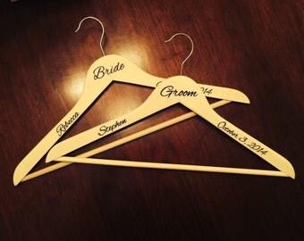 Wedding Hanger Decal Etsy - Diy vinyl wedding hangers