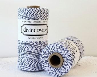 Navy Blue Bakers Twine - 240 Yards. Divine Twine, Blue and White Twine. Blue String, Bakers Twine, Blue Twine, DIY Wedding, Craft Supplies