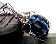 Dichroic Glass Necklace - Dichroic Glass Pendant - Dichroic Glass Jewelry -Dichroic Pendant - Dichroic Necklace - Dichroic Jewelry