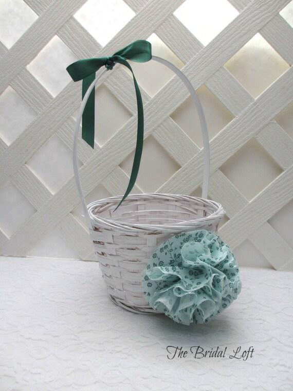 Flower Girl Baskets Green : Items similar to mint green flower girl basket