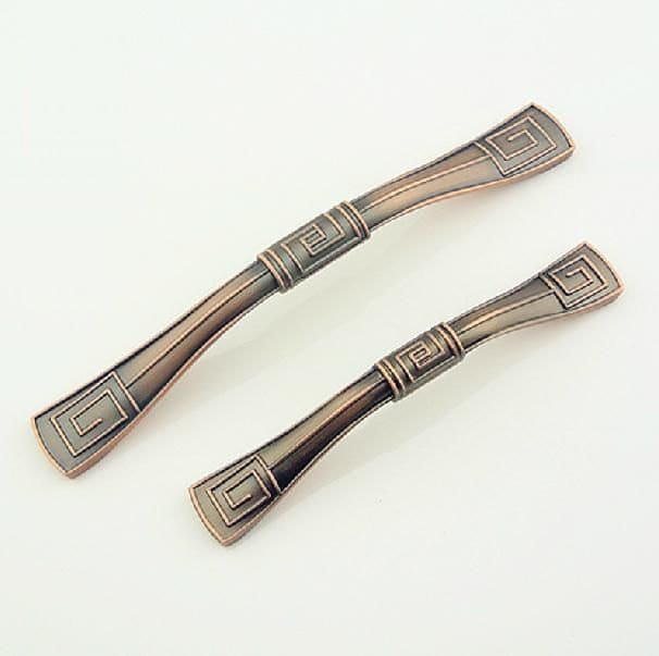 Chinese style pull handle cabinet handles dresser drawer for Asian furniture hardware drawer pulls