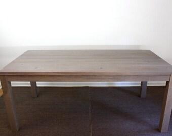 Gray Parsons Desk Reclaimed Wood