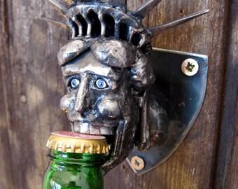Statue of Liberty wall mounted Bottle Opener