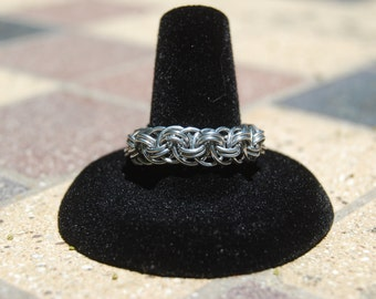 Viper Weave Chainmaille Finger Ring