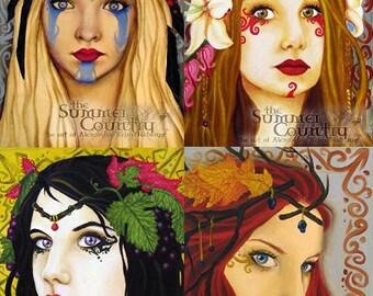 The Seasons: 5x7 Print Set Winter Fall Spring Summer