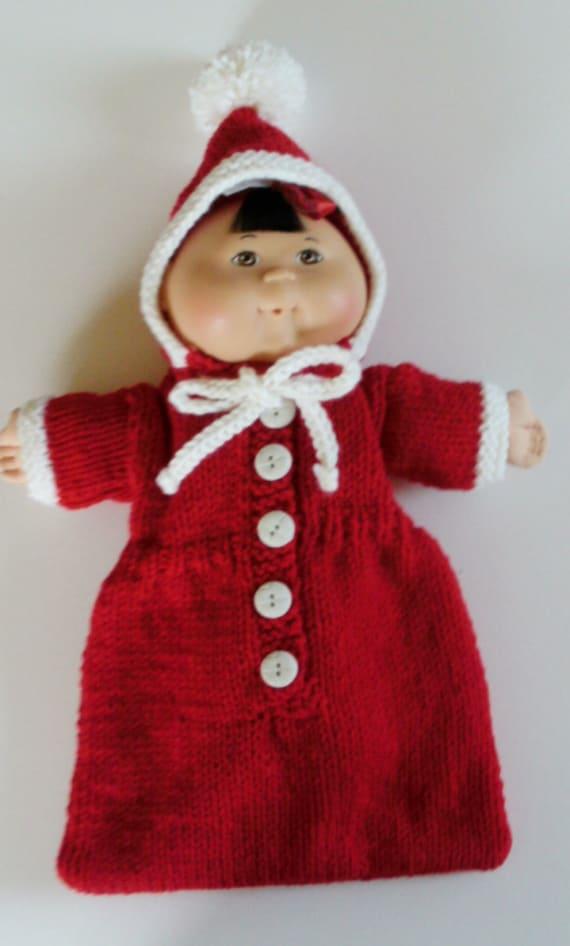 NEW PATTERN Santa Bunting/Sleeping Bag: Doll Clothes for