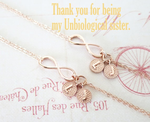 Personalized Rose Gold Infinity Bracelet - Infinity charm, rose gold filled, forever love, bridal, bridesmaid, best friends - B0006RG