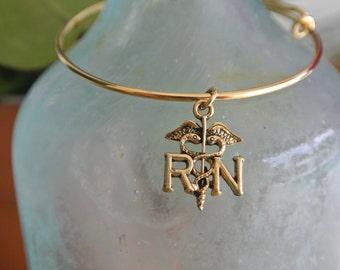 Nurse RN Bracelet // RN charm