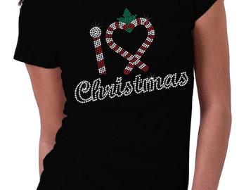 I Heart Christmas Rhinestone Shirt