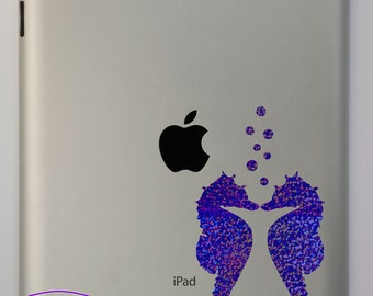 Sea Horses with Bubbles iPad Decal