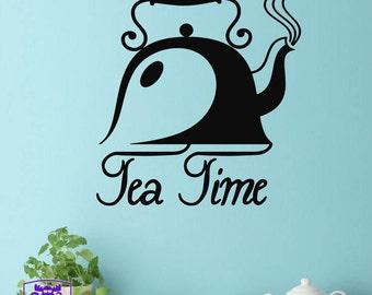 Tea Time Teapot Wall Decal Decor