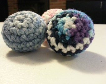 3 Crochet Cat Toy - 3 Crochet Cat Jingle Ball