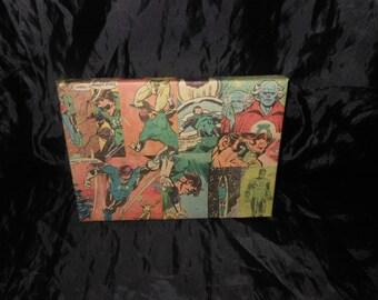 Green Lantern comicbook panels canvas