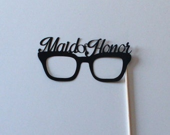 Maid of Honor Glasses Photo Booth Prop