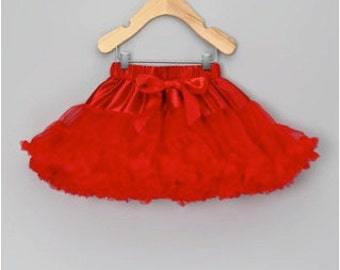 SALE, Reduced Price... Red Premium Petti Skirt for Baby to Big Girls