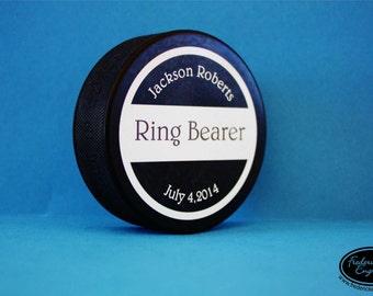 Personalized Hockey Puck - Custom Color Printed Regulation Size Hockey Puck - Hockey Gift, Groomsman Gift, Wedding Favor, Team Gift - HC03