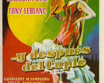 Vintage spanish movie poster - ...Y después del Cuplé - 1959