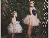 Tulle Petal Skirt. Ballerine-inspired ruffly tulle skirt with stretch waistband
